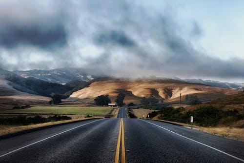 Бесплатное стоковое фото с HD-обои, дорога, небо, облака