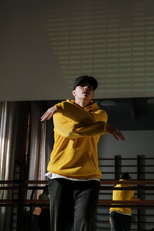 Man in Yellow Sweater Dancing