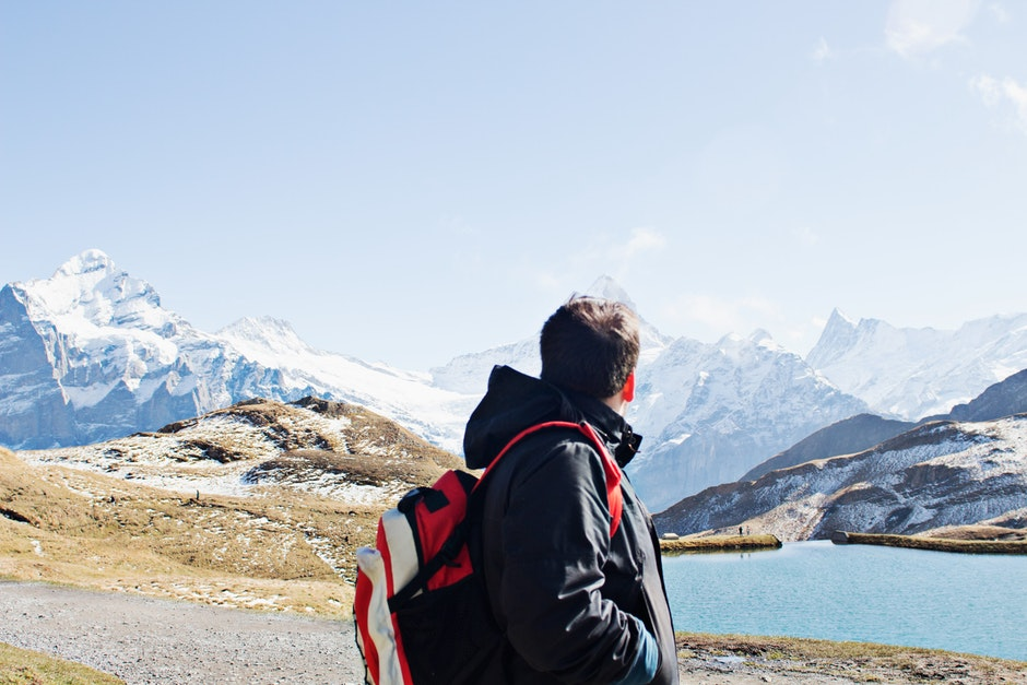 adventure, alps, backpack