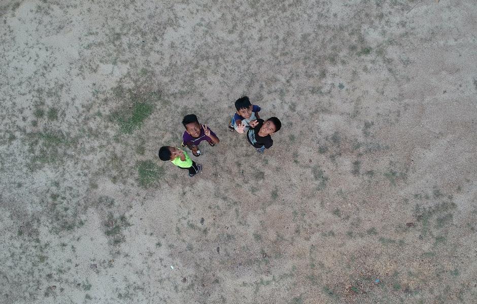 bird's eye view, boys, children