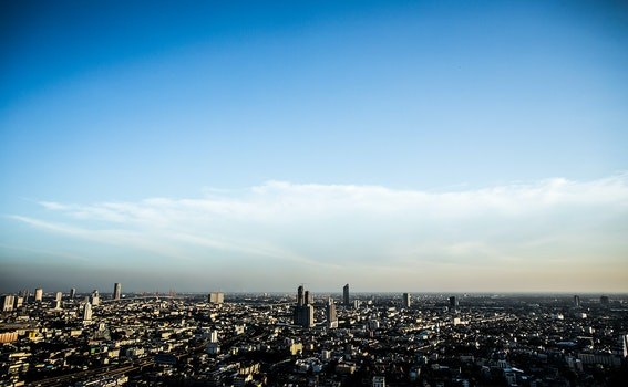 City Horizon Under Clear Skies