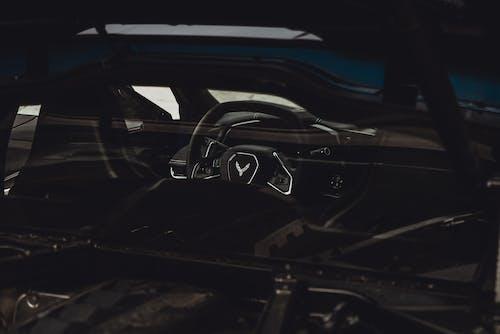 Steering Wheel of a Sports Car