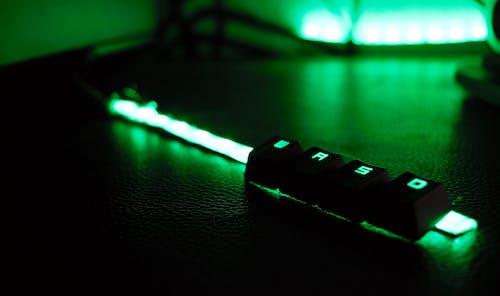 Free stock photo of creative, green, green keyboard, keyboard