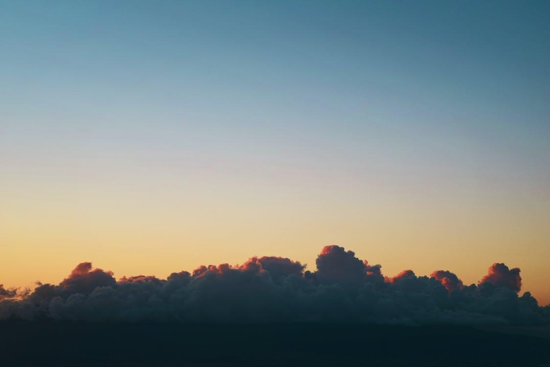 hemel, landschap, lucht