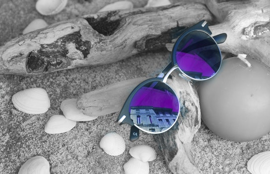 Neo Chrome Sunglasses With Silver and Black Frame on Brown Firewood