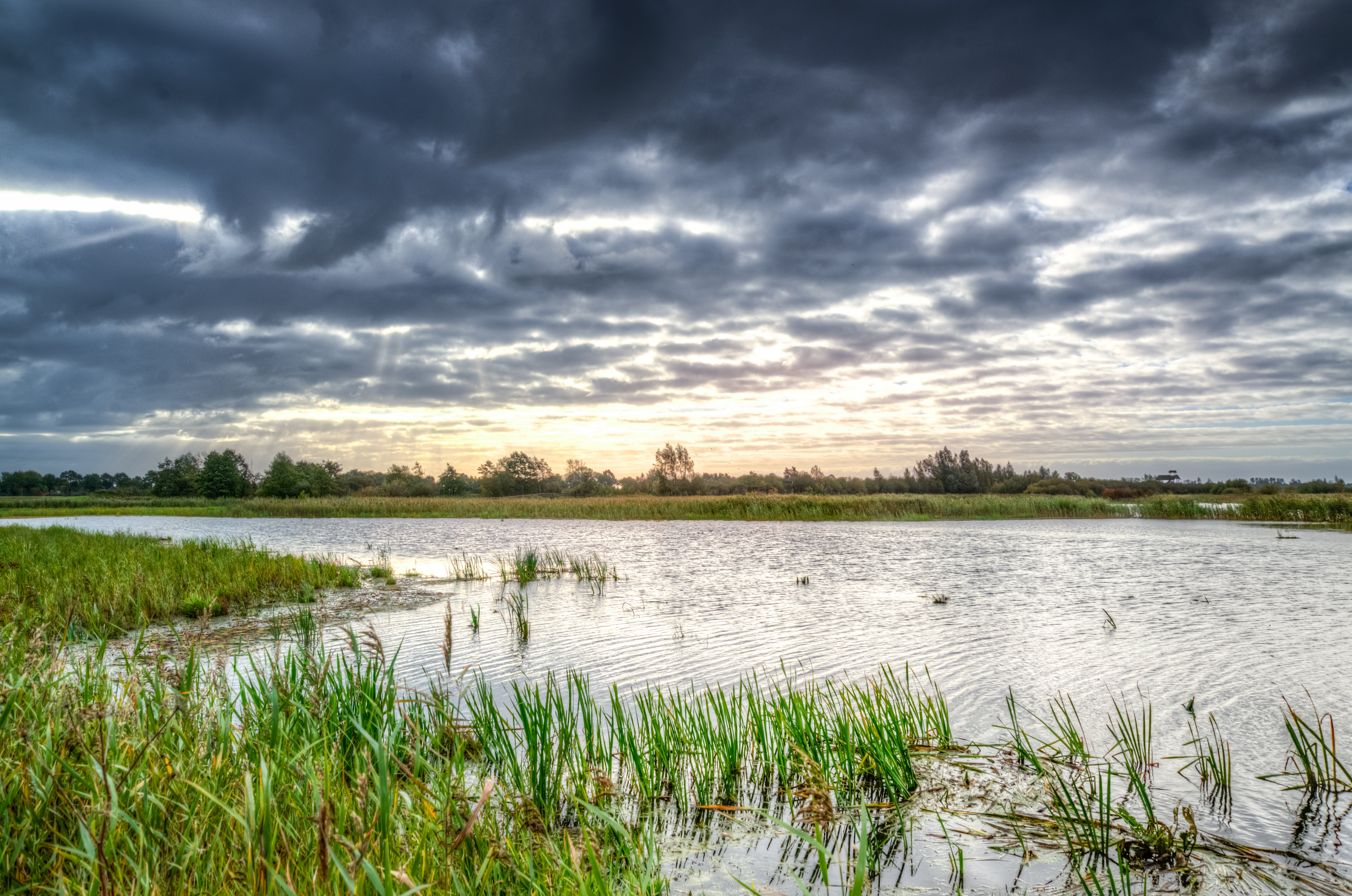 Photo of Body of Water Under Black Clouds