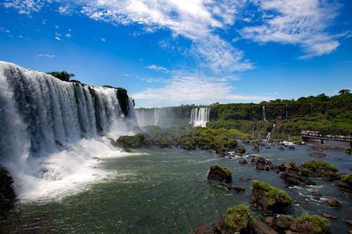 Бесплатное стоковое фото с вода, водопад, живописный, закат