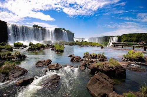 Бесплатное стоковое фото с вода, водопад, живописный, лето