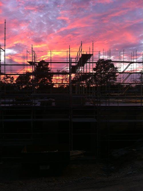 คลังภาพถ่ายฟรี ของ การก่อสร้าง, ตะวันลับฟ้า, สตอกโฮล์ม