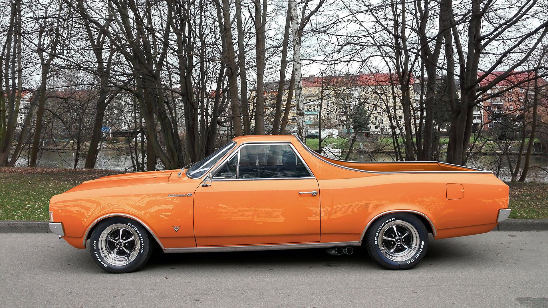 Orange Chevrolet El Camino