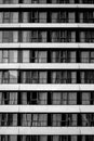 black-and-white, building, windows