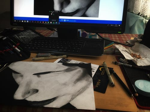 Free stock photo of art, drawing, hand drawing