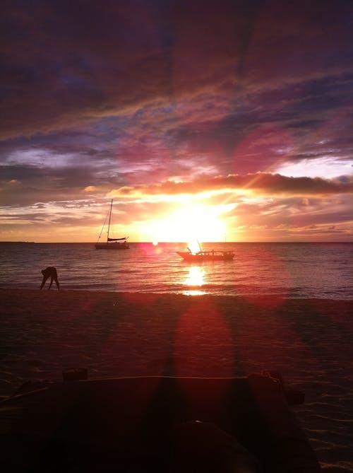 คลังภาพถ่ายฟรี ของ ชายหาด, ตะวันลับฟ้า, ทะเล, แซนซิบาร์
