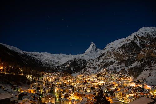 Free stock photo of alps, cold, dawn