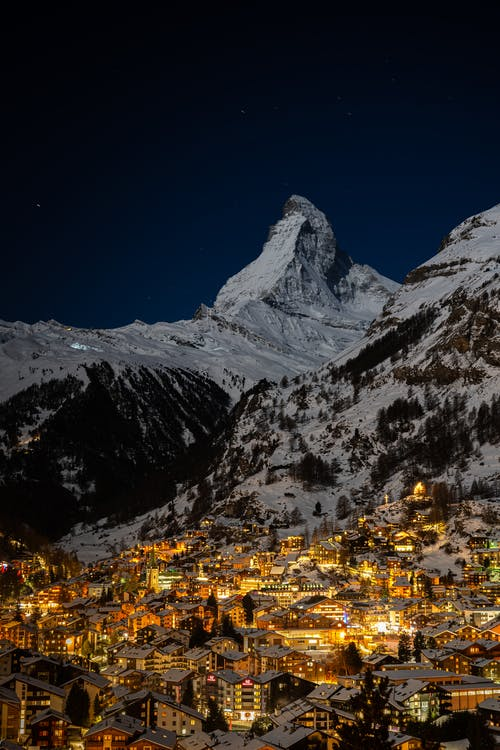 Free stock photo of alps, city, cold