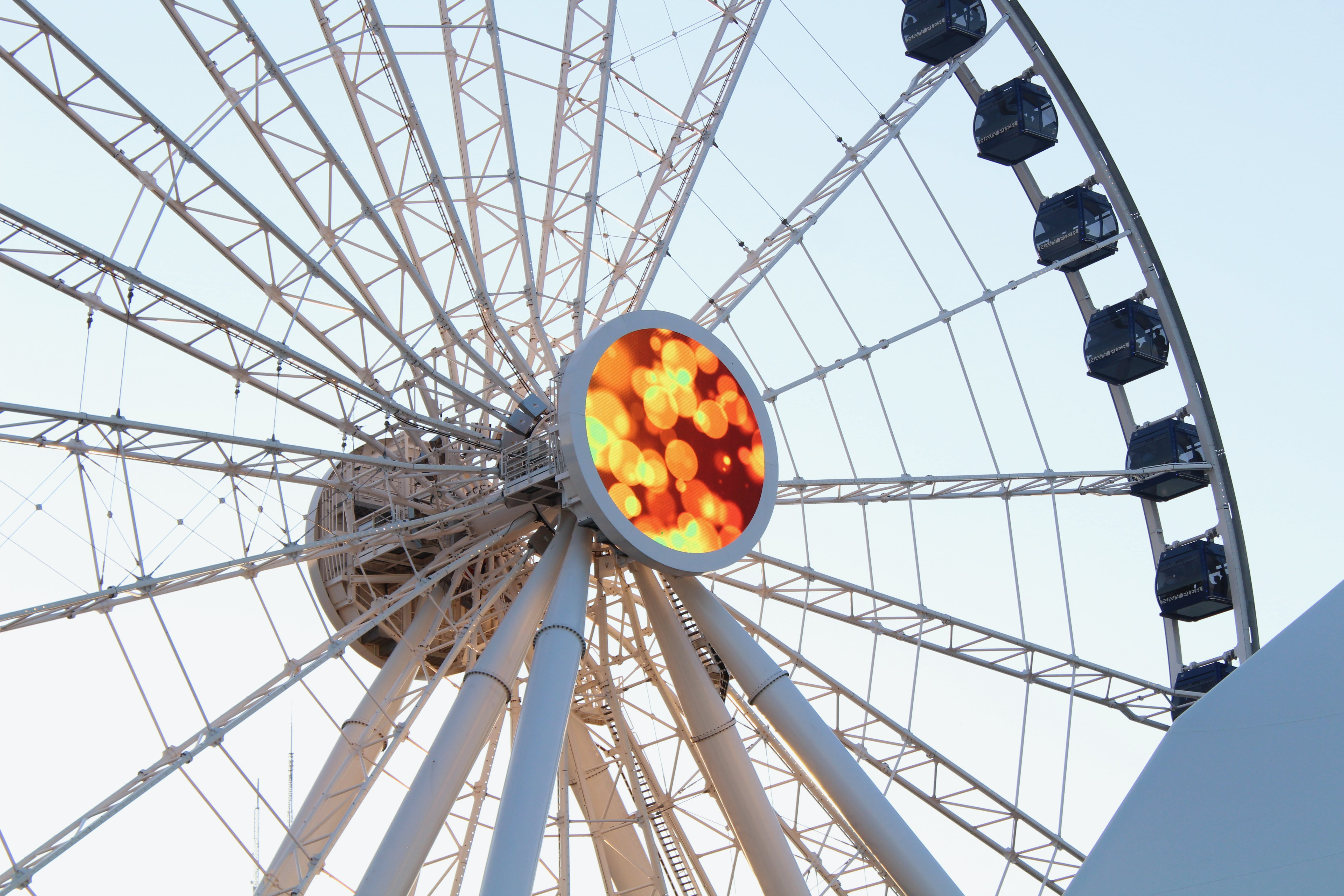 Free stock photo of big wheel, chicago, orange