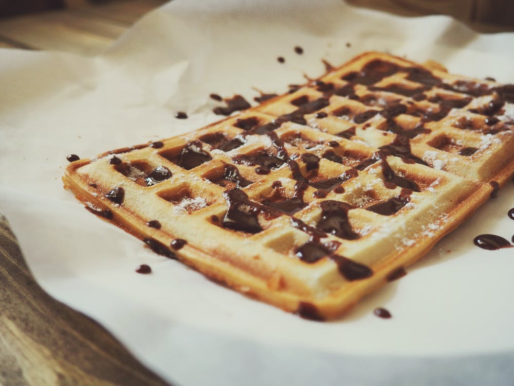 Chocolate Covered Waffles