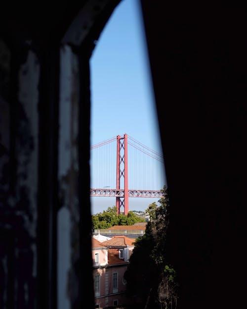 Free stock photo of bridge, lisbon, view