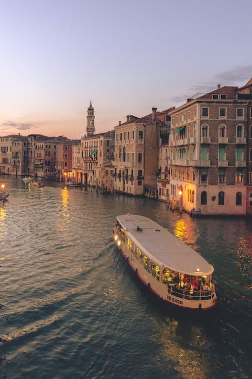 Free stock photo of architecture, boat, bridge