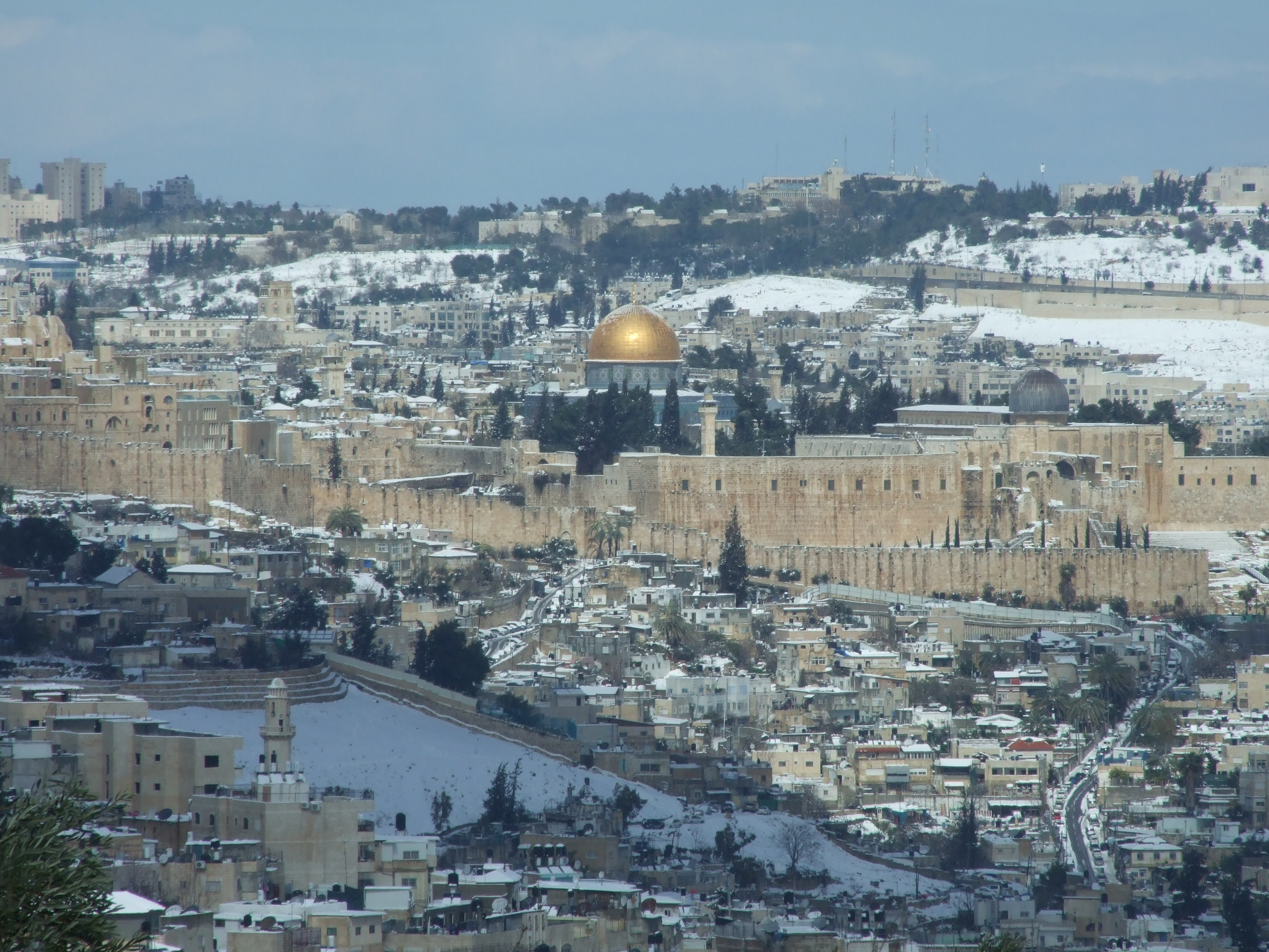 Free Stock Photo Of Dome Of The Rock Jerusalem Snow