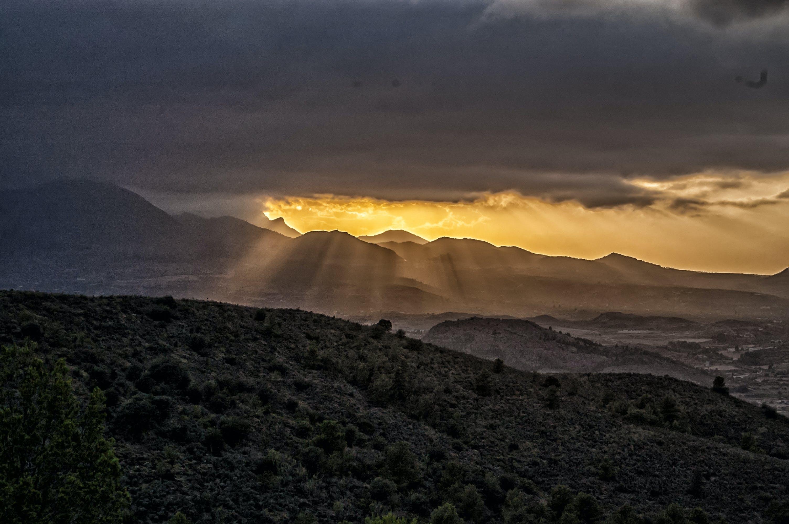 Kostenloses Stock Foto zu himmel, landschaft, natur, sonnenuntergang
