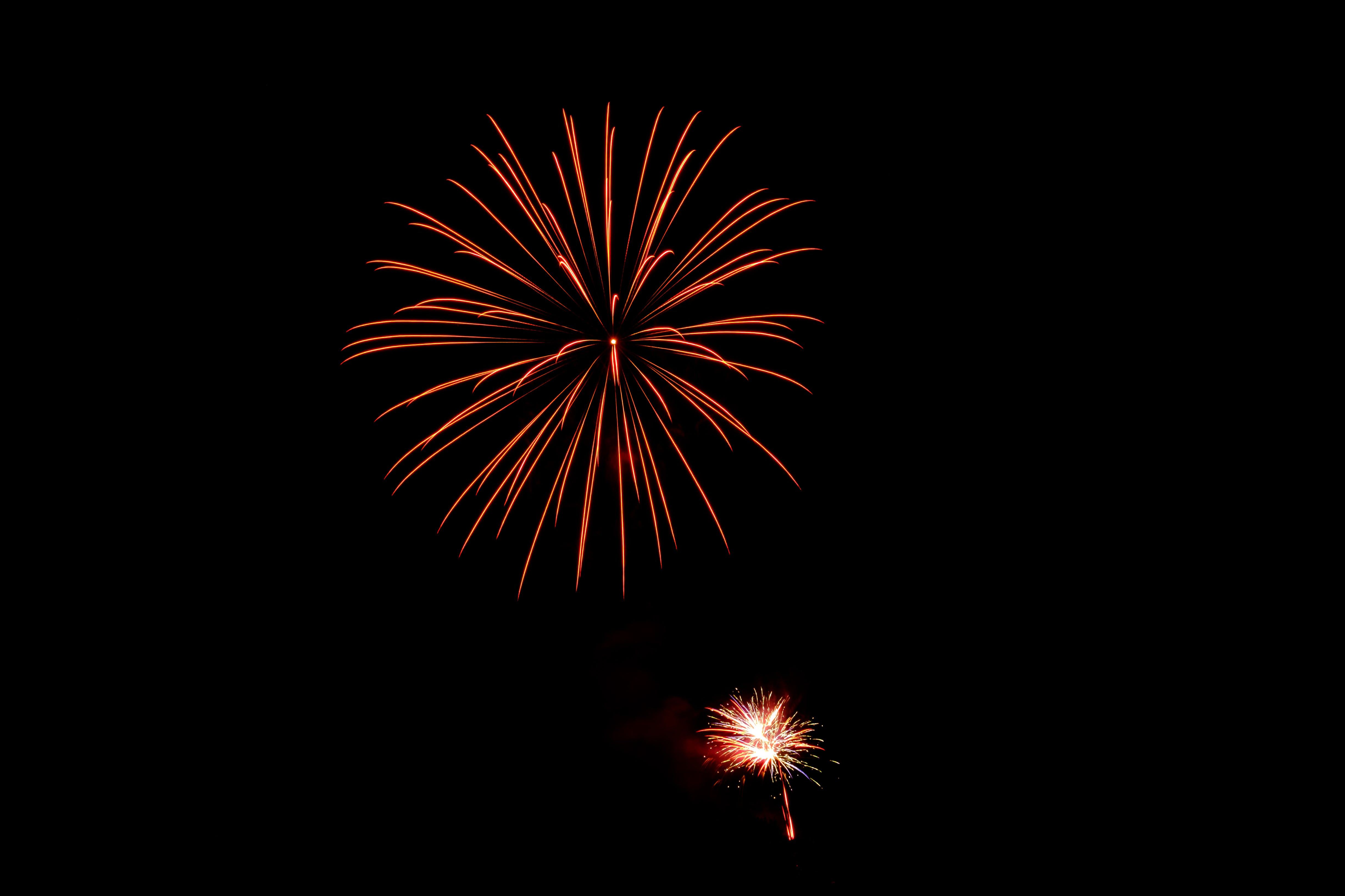 Two Fireworks