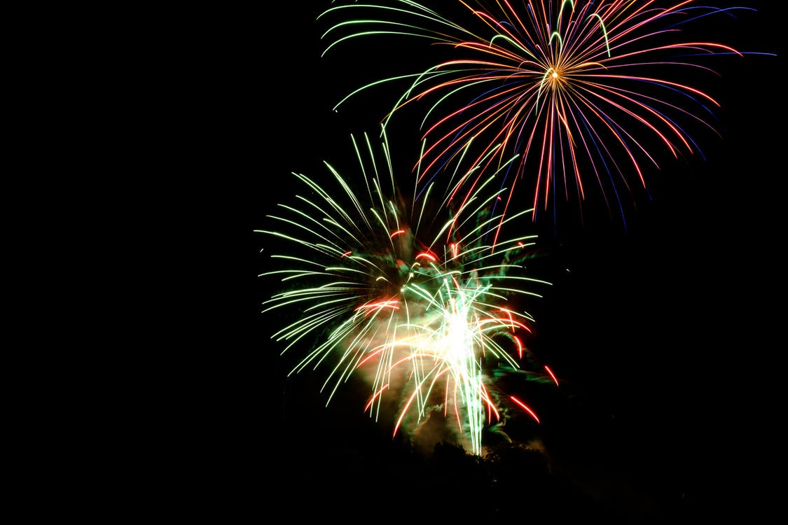 Fire Works during Night Time