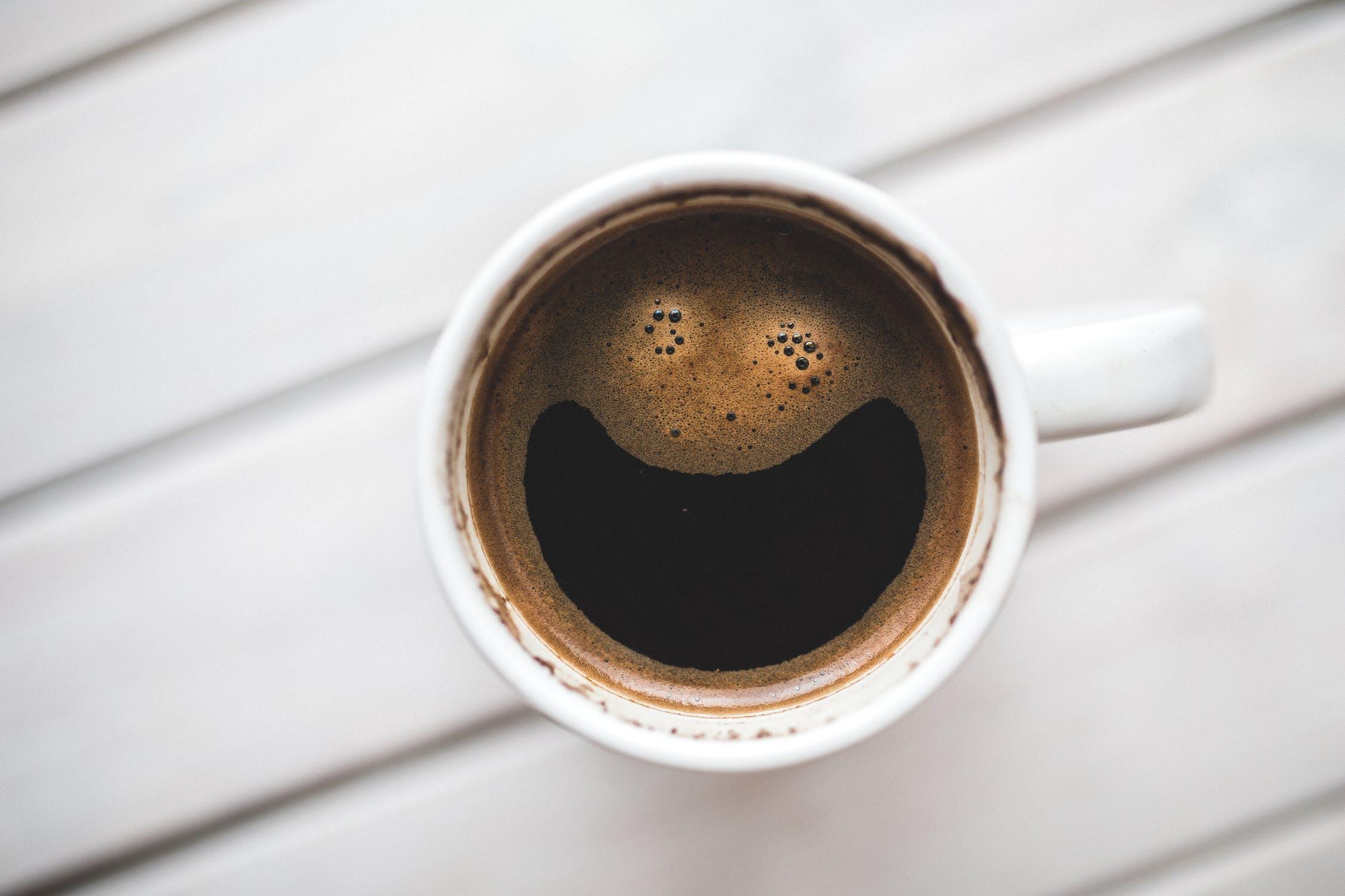 コーヒーの笑顔