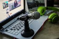 laptop, technology, blur
