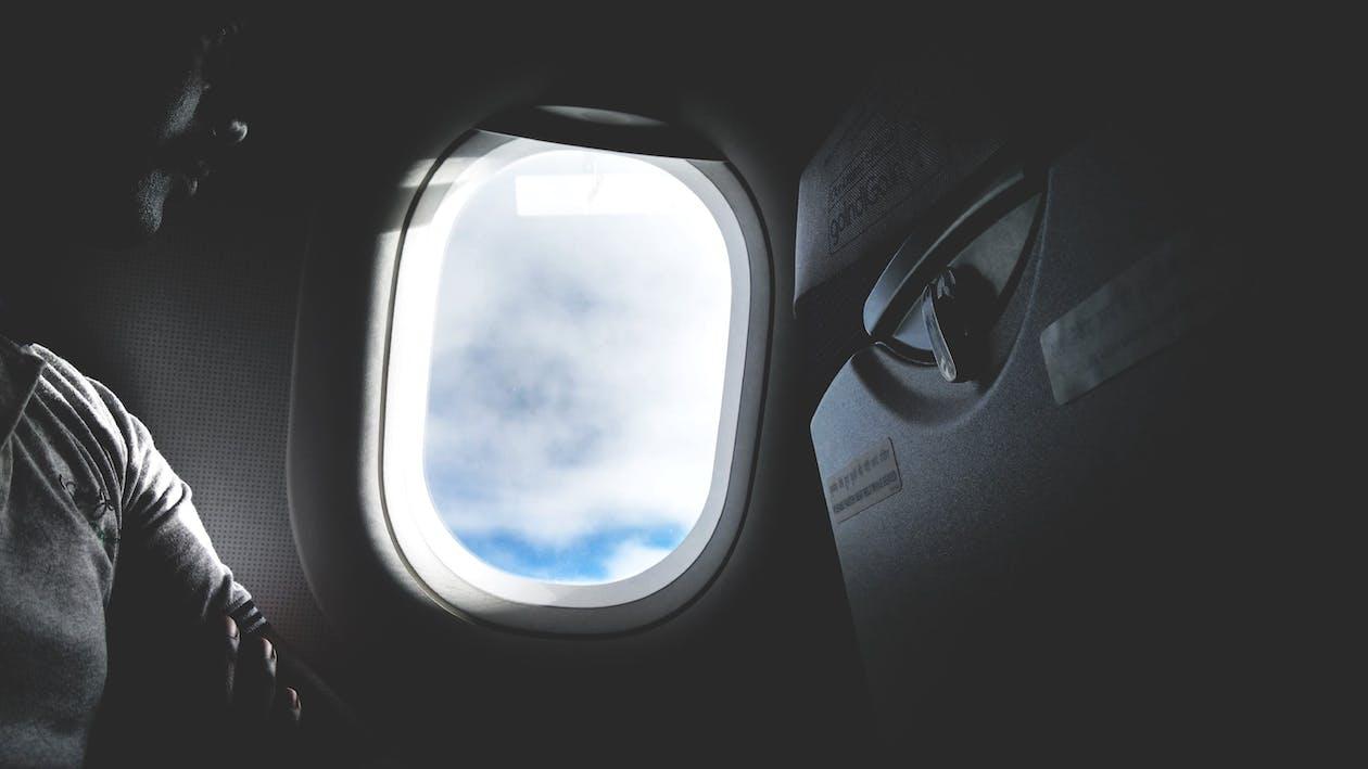 adentro, aeronave, asiento