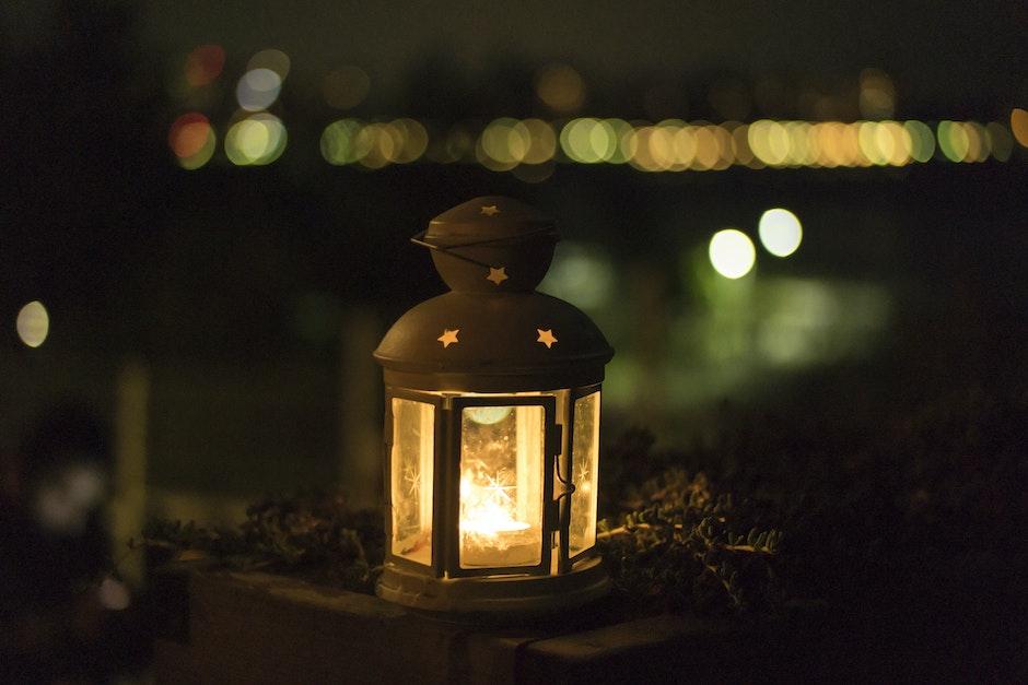 Yellow Lantern during Night