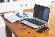 smartphone, magazines, desk