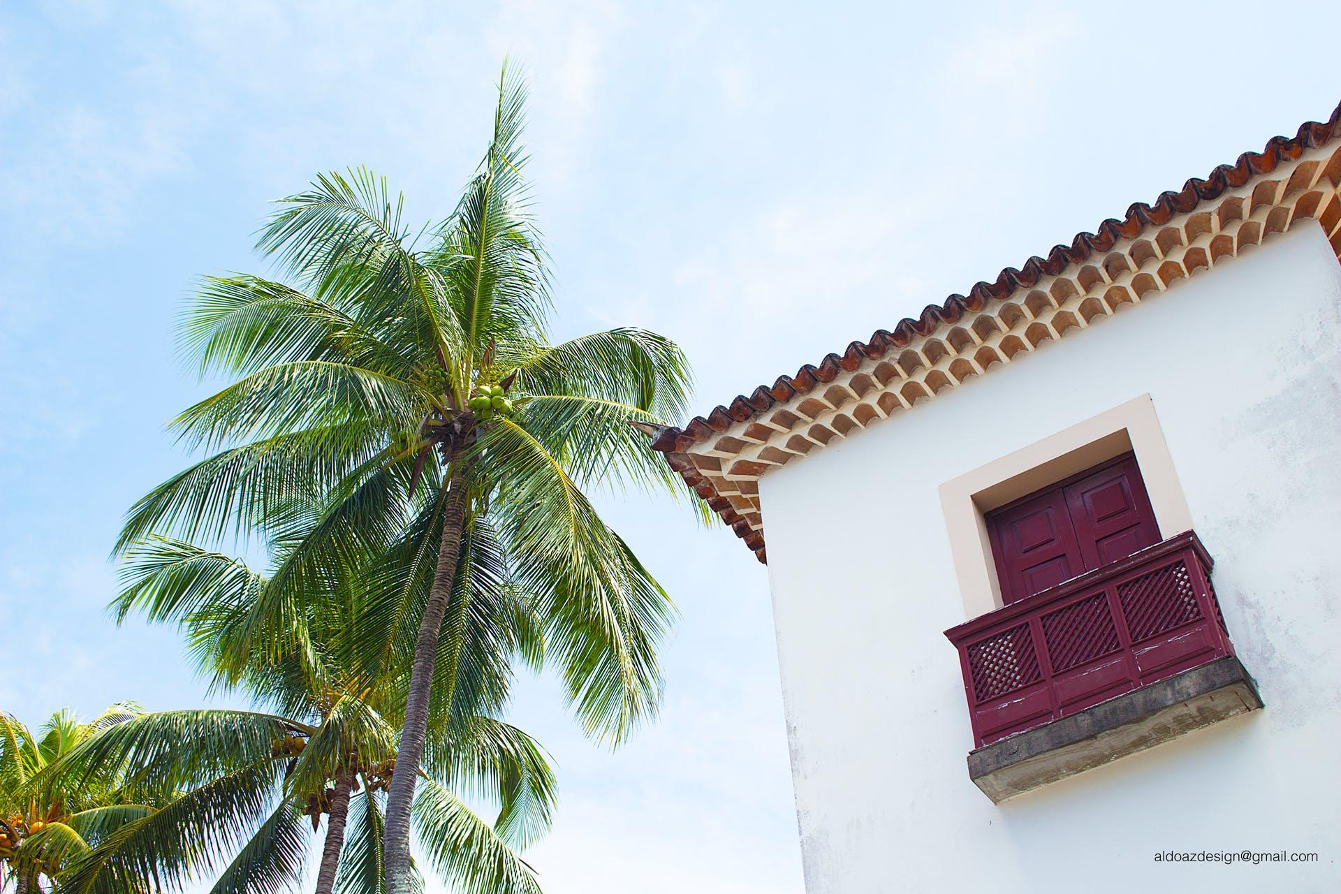 Free stock photo of angle, balcony, blue sky, build