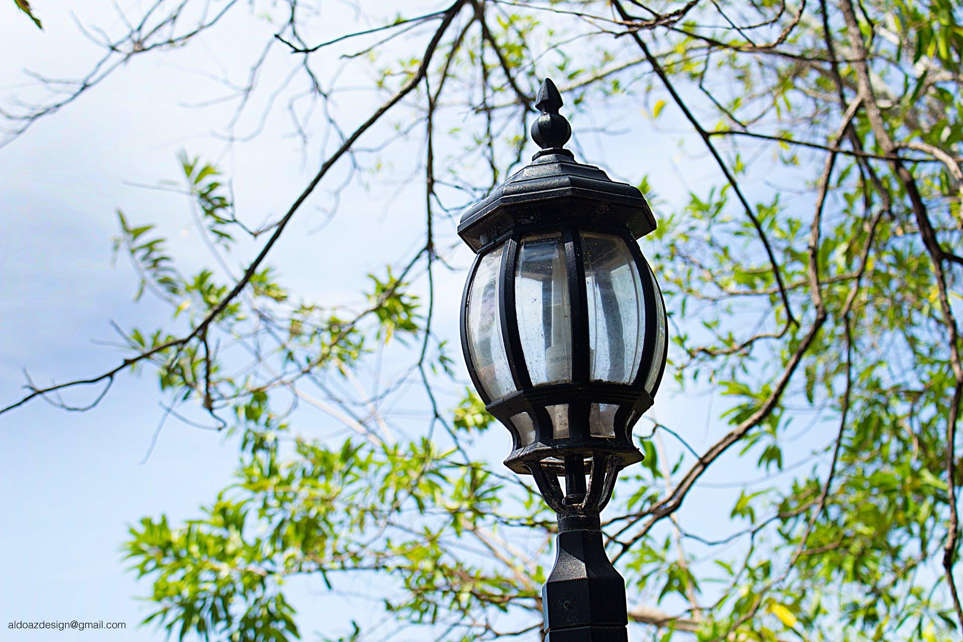 Free stock photo of antique, blue sky, bulb, city lights
