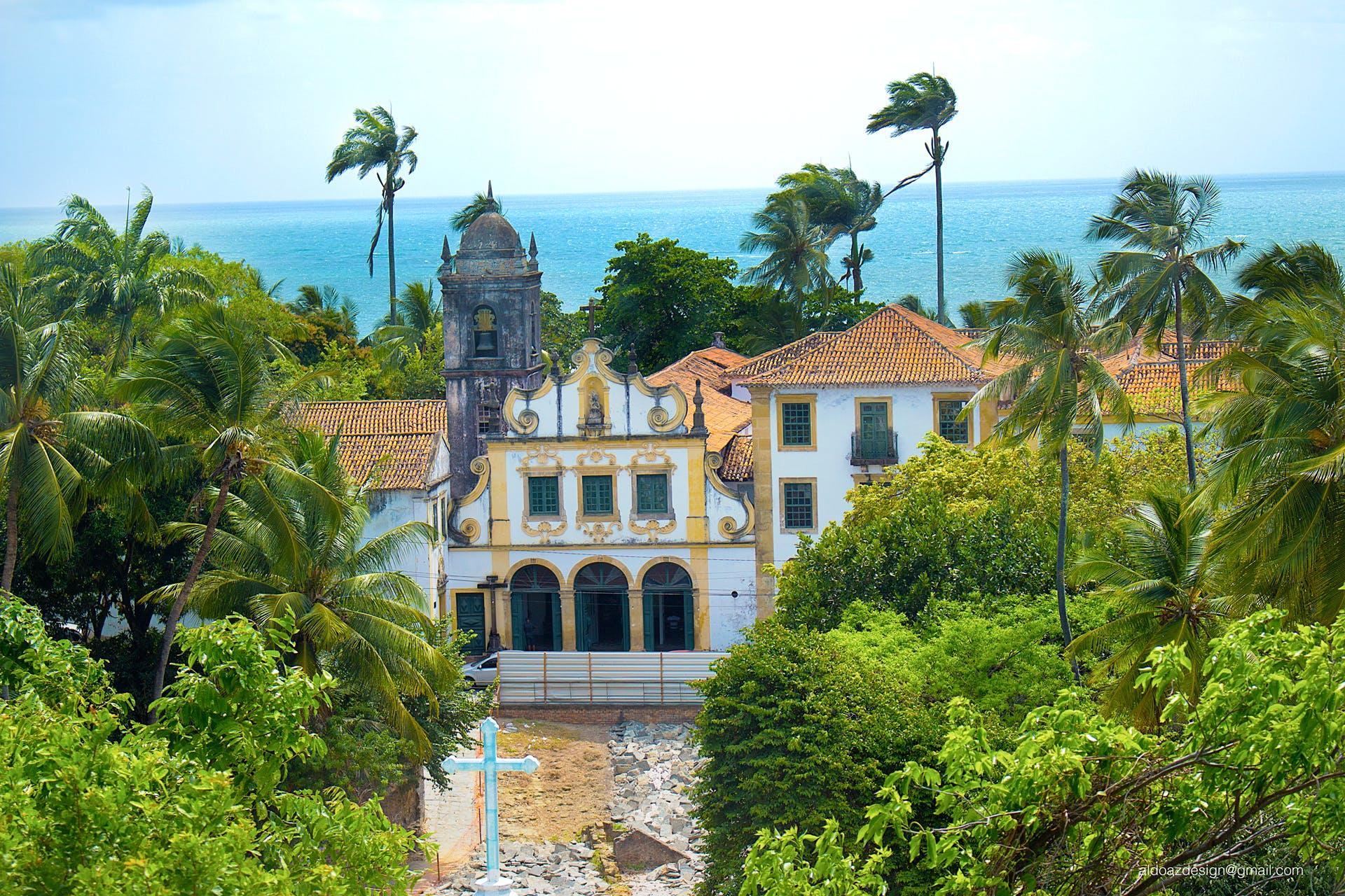 Free stock photo of beach, church, church building, church tower