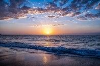 sea, dawn, nature