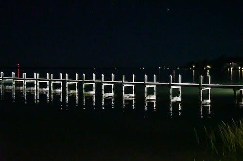 Free stock photo of night photography, pier