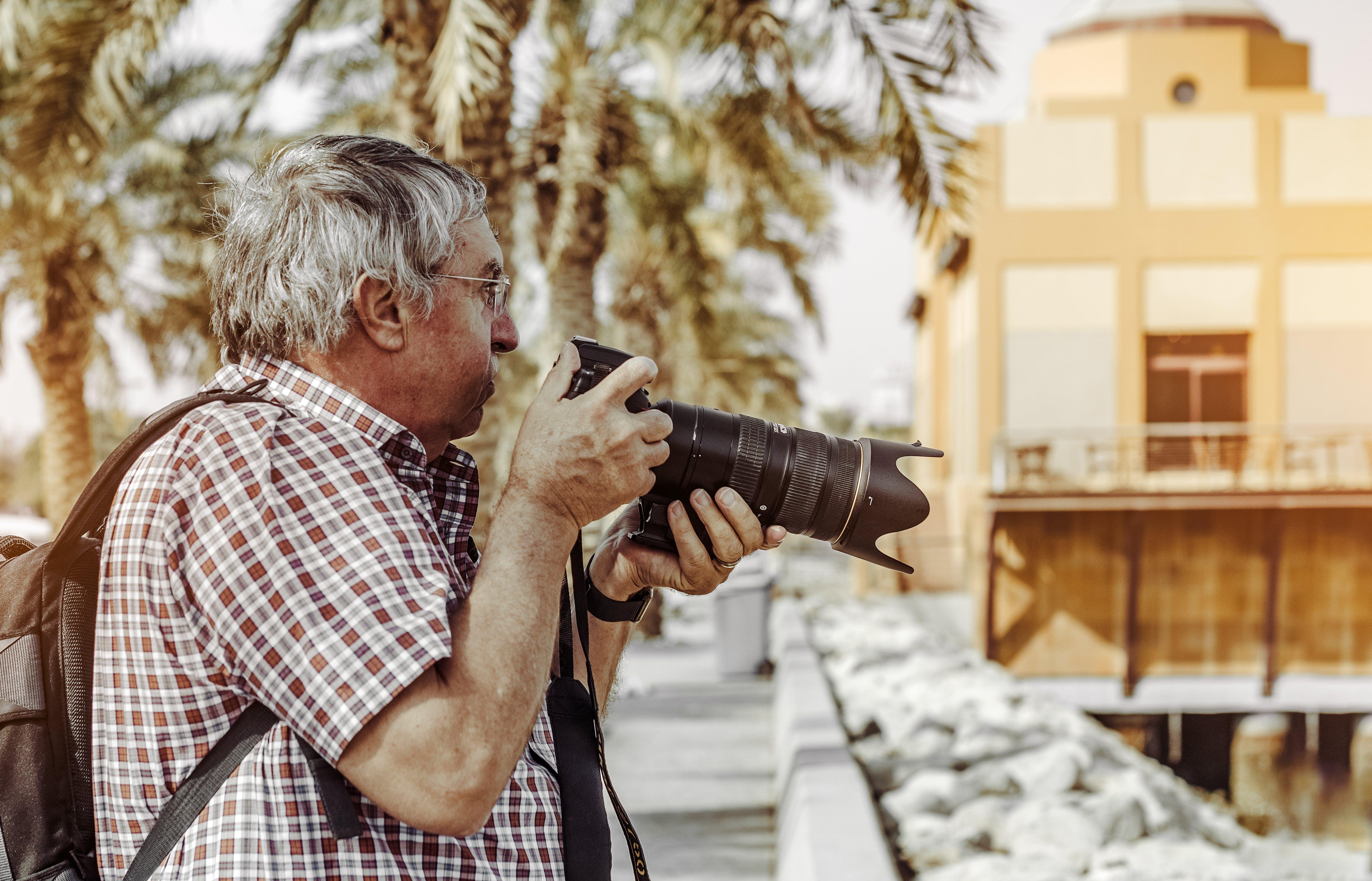Základová fotografie zdarma na téma digitální fotoaparát, dospělý, dslr, fotoaparát