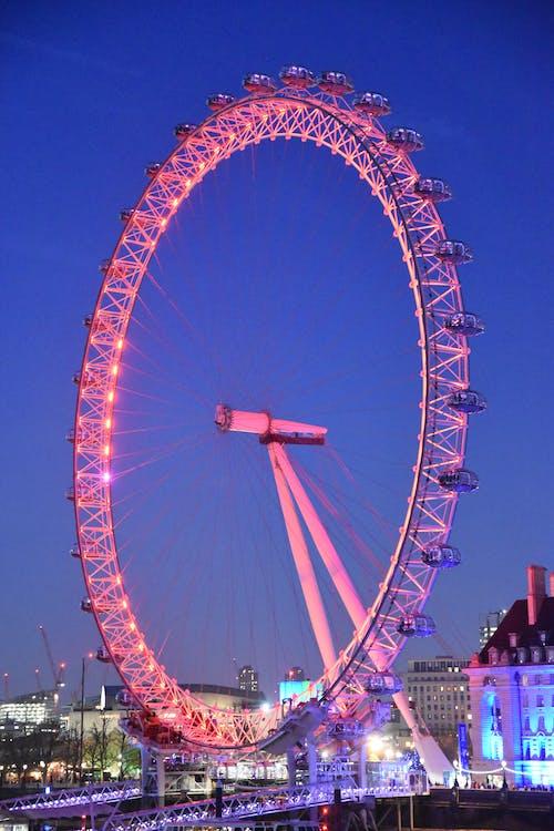 Free stock photo of london eye, night photography