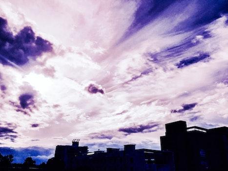 Kostenloses Stock Foto zu licht, himmel, wolken, silhouette