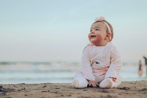 Free stock photo of baby, beach, child
