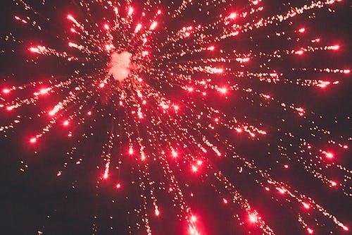 Colorful firework on dark sky