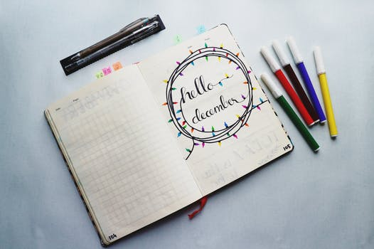 Writings On A Planner