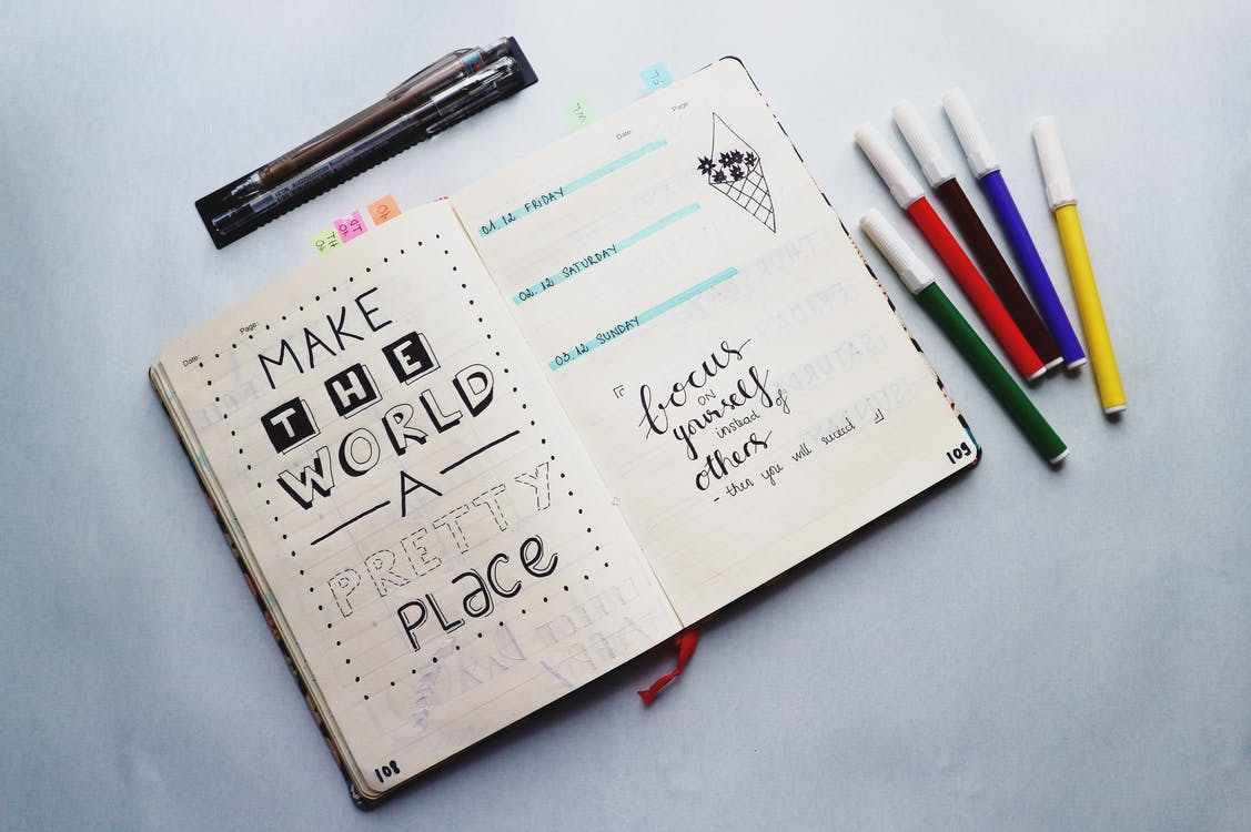 Inspirational Quotes Written On A Planner