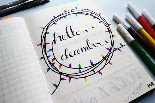 Hello December Calligraphy