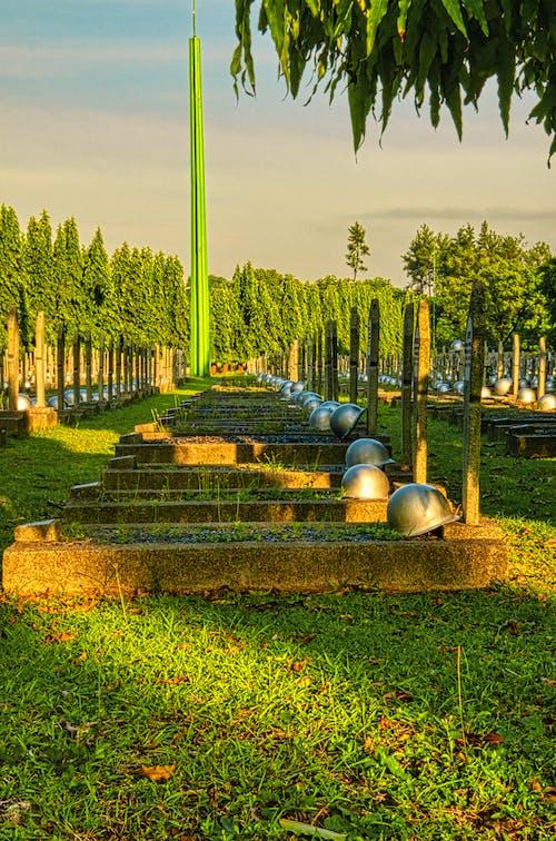 Gravestones on national heroes cemetery