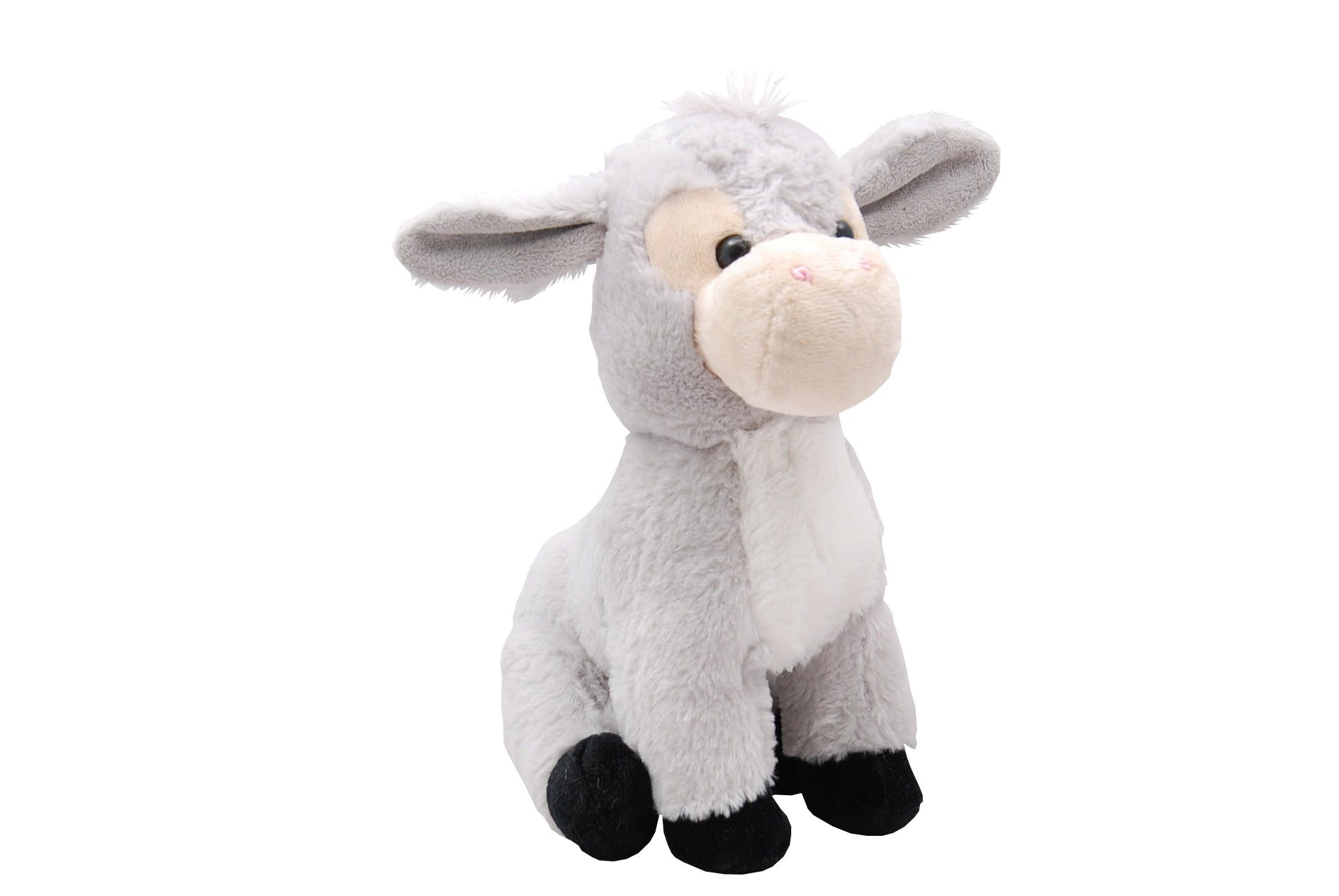Grey Plush Donkey Toy
