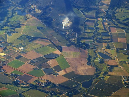 Bird's Eye View Of Farmland