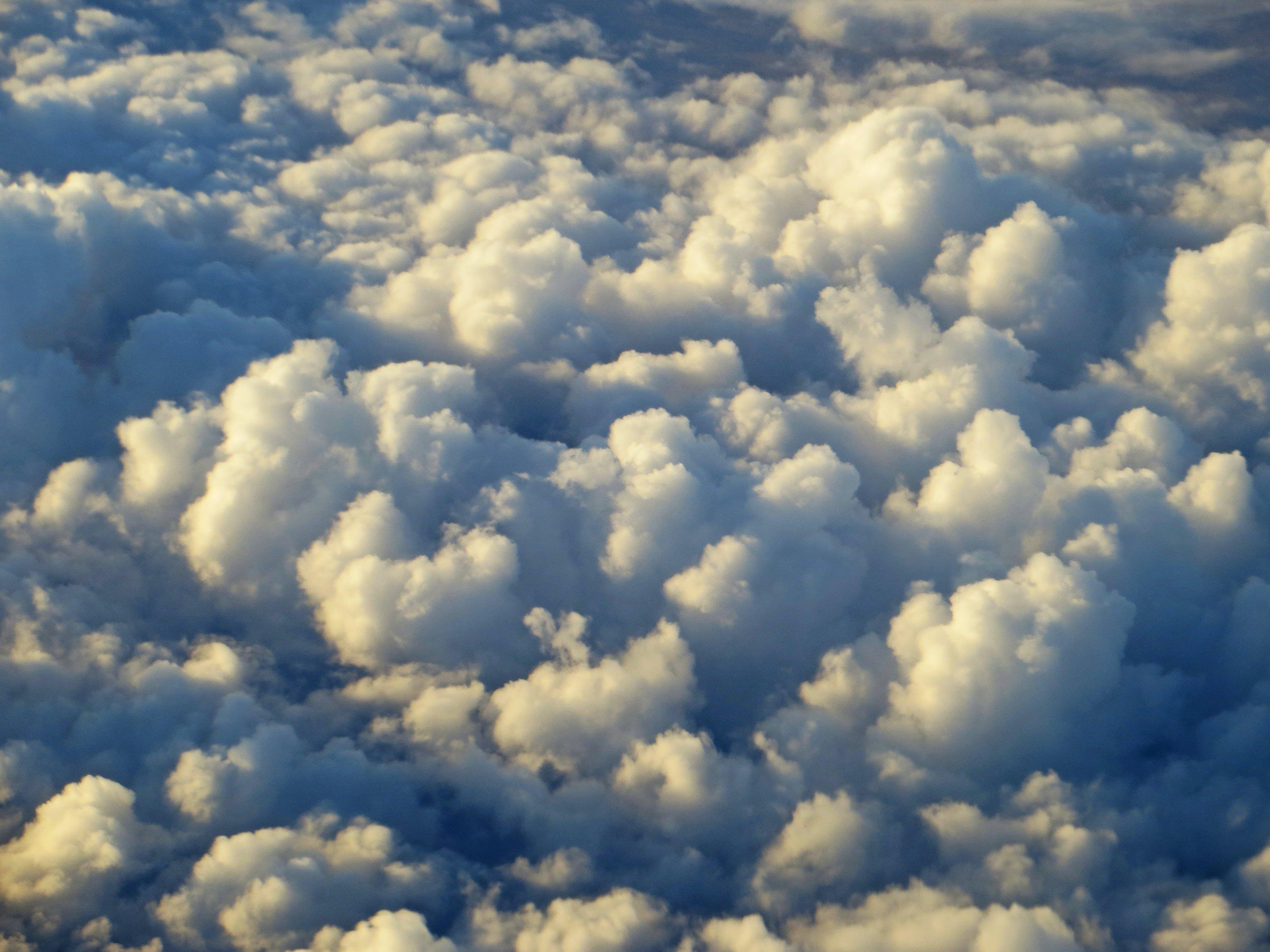 Kostnadsfri bild av clouds, dagsljus, från ovan, moln