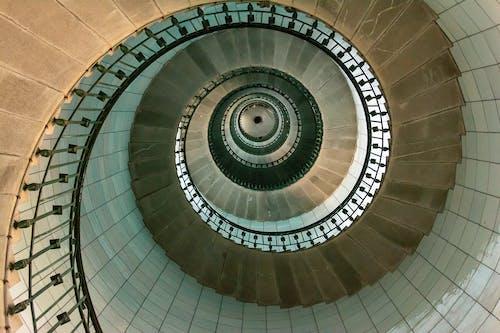 Darmowe zdjęcie z galerii z góra, klatka schodowa, kręte schody